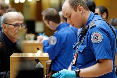 Fingerprint check-in at Denver International Airport