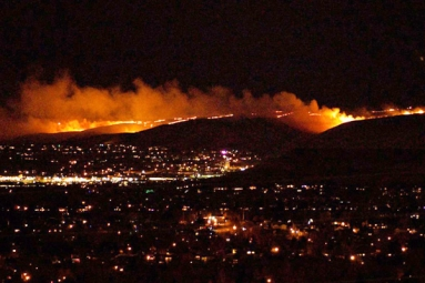 Firefighters to work overnight to contain the wildfire